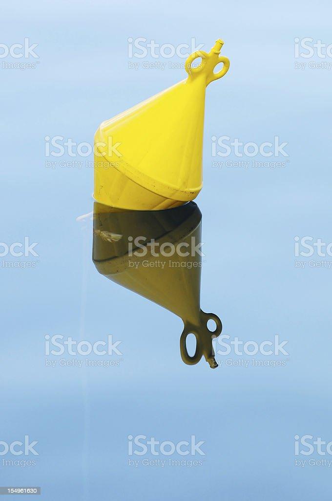Yeloow buoy royalty-free stock photo