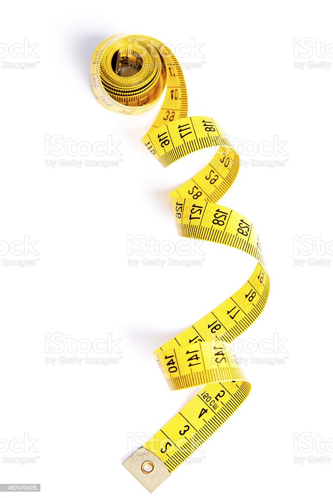 Yelow measuring tape stock photo