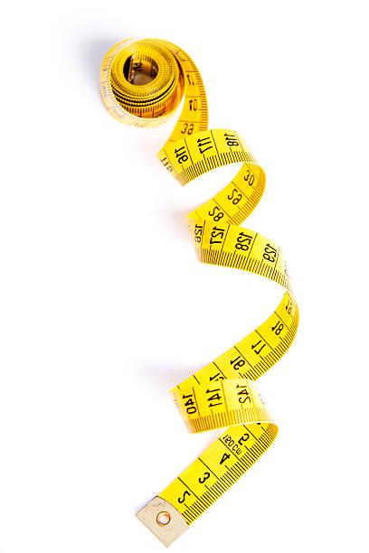 Yelow measuring tape stock photo