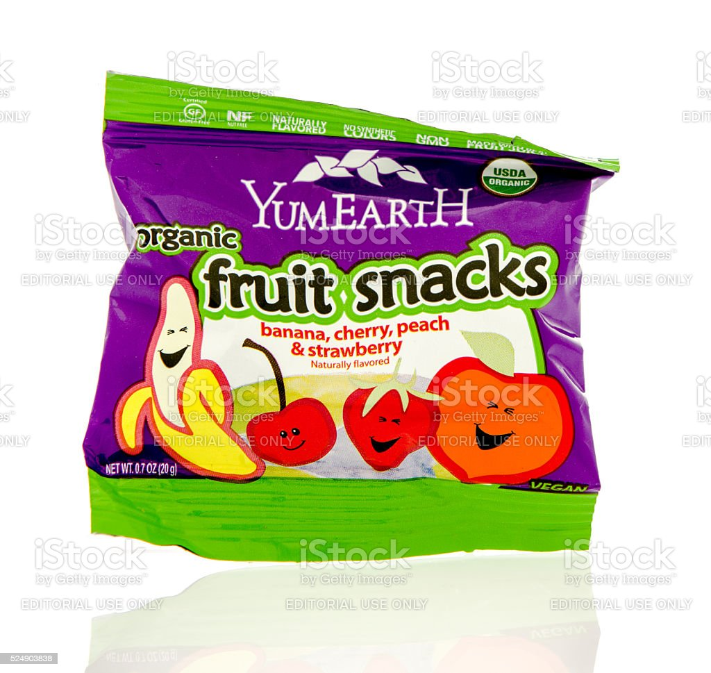 YemEarth Fruit Snacks stock photo