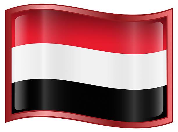 Jemenite Flagge Symbol isoliert auf weißem Hintergrund – Foto