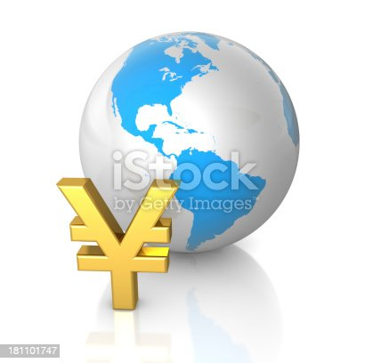 1019729218 istock photo Yen and Globe 181101747