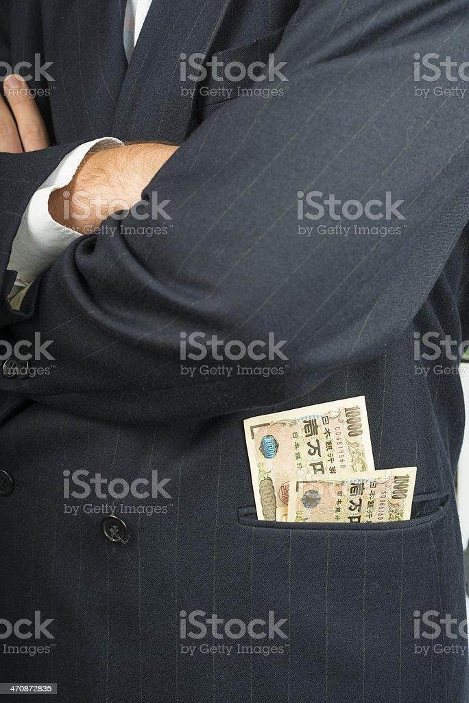10000 yen banknotes stock photo