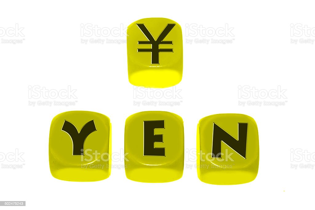 Yen Symbol With Word Yen On Cubes Stock Photo More Pictures Of