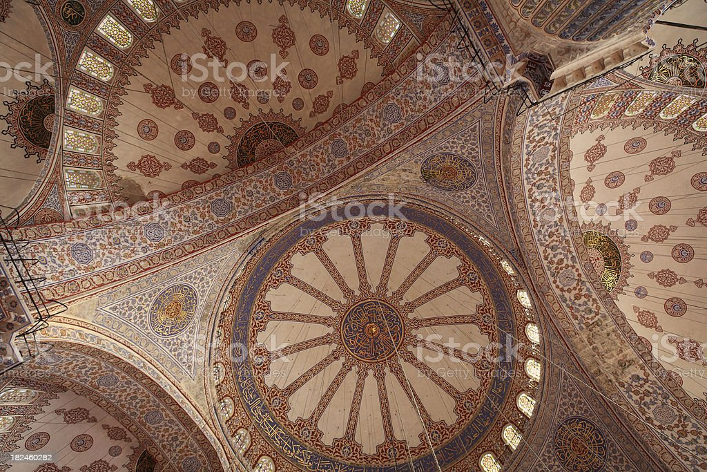 Yeni Cami Mosque Ceiling royalty-free stock photo