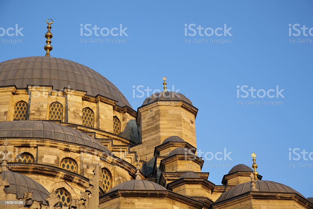 Yeni Cami, the new mosque in Istanbul, Turkey royalty-free stock photo