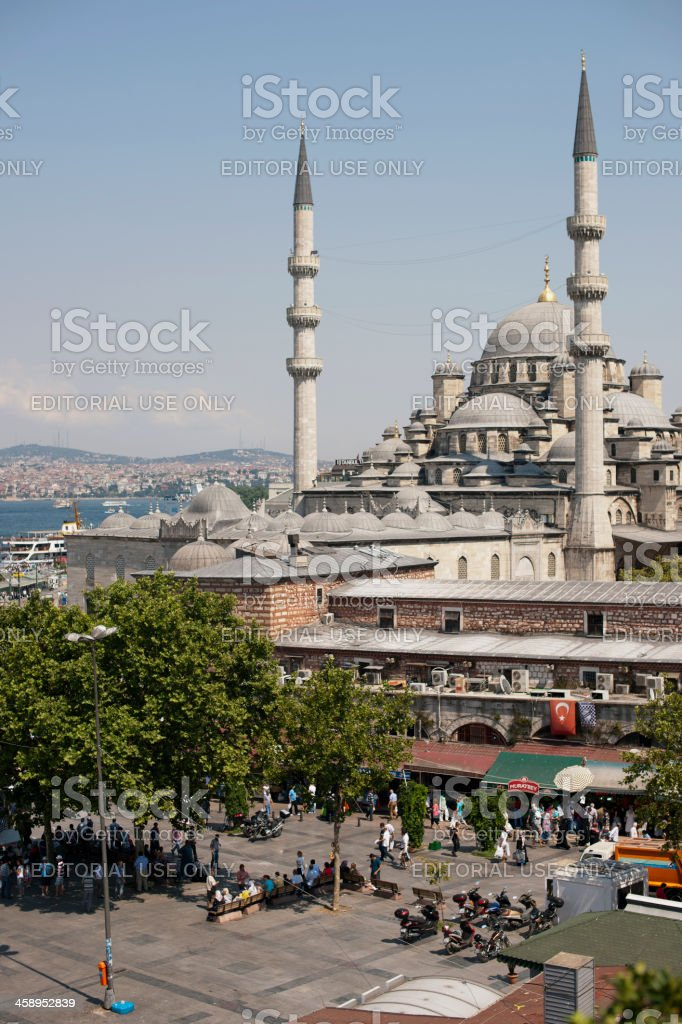 Yeni Cami, 'The New Mosque', Istanbul stock photo