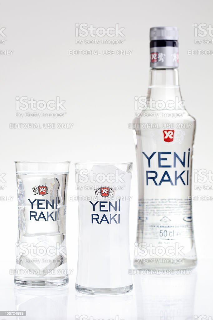 Yeni Raki Bottle And Glasses Stock Photo Download Image Now Istock