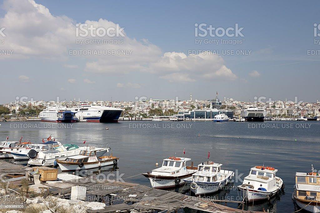 Yenikapi Port stock photo