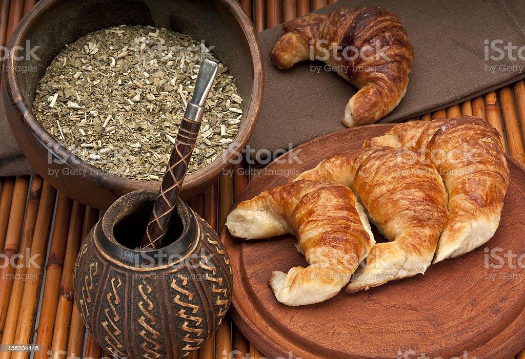 Yerba mate traditional breakfast royalty-free stock photo