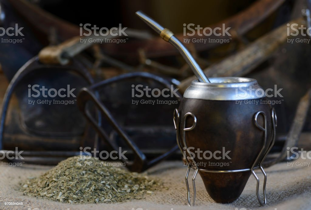 Yerba Mate,Ttraditional Infusion of Argentina stock photo
