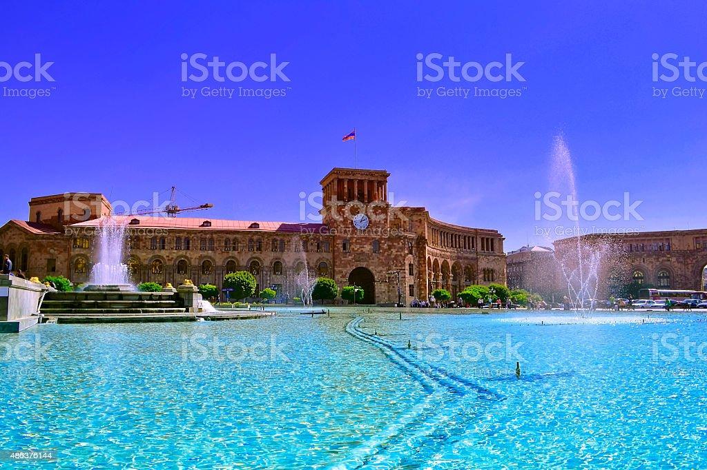 Yerevan city stock photo