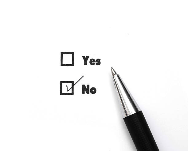 Yes and No check boxes, check No Yes and No check boxes, check No single word no stock pictures, royalty-free photos & images