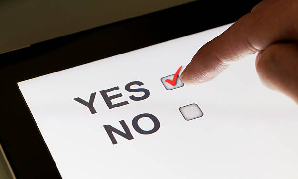 Yes and no checkboxes on a tablet