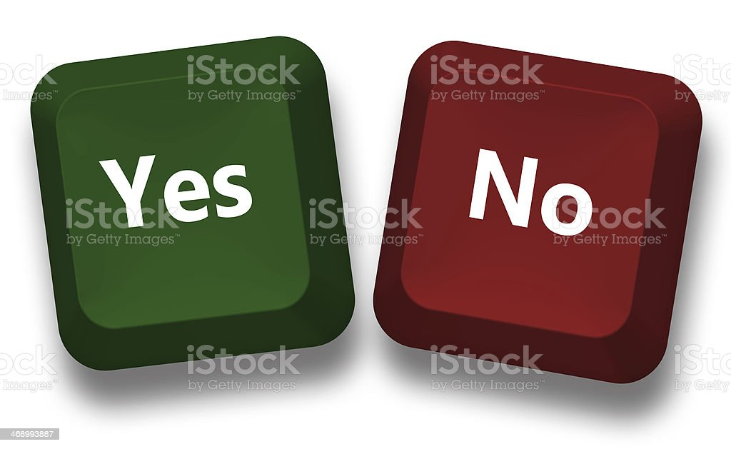 Yes and no keyboard buttons royalty-free stock photo