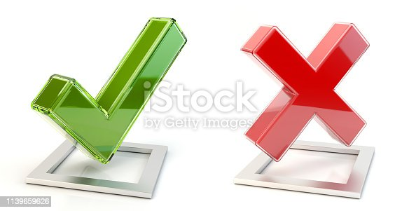 istock Yes and no marks 1139659626