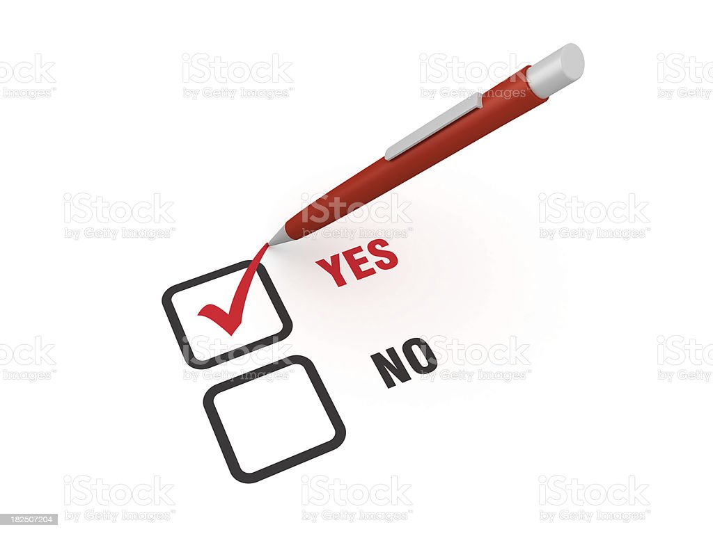 Yes and No Survey royalty-free stock photo