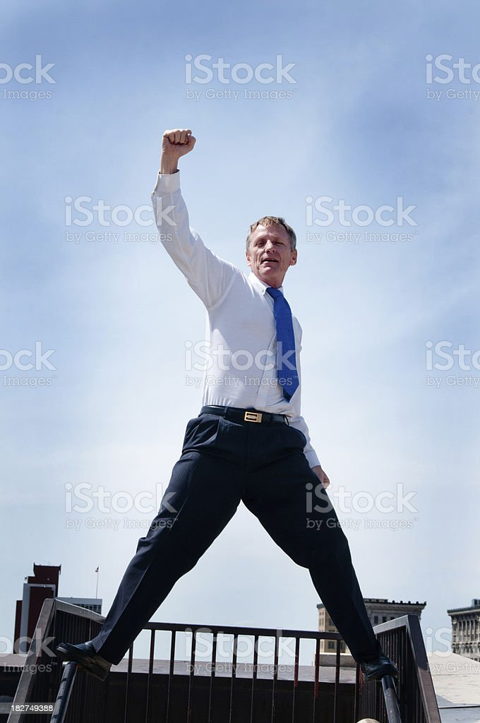 Yes! Businessman royalty-free stock photo