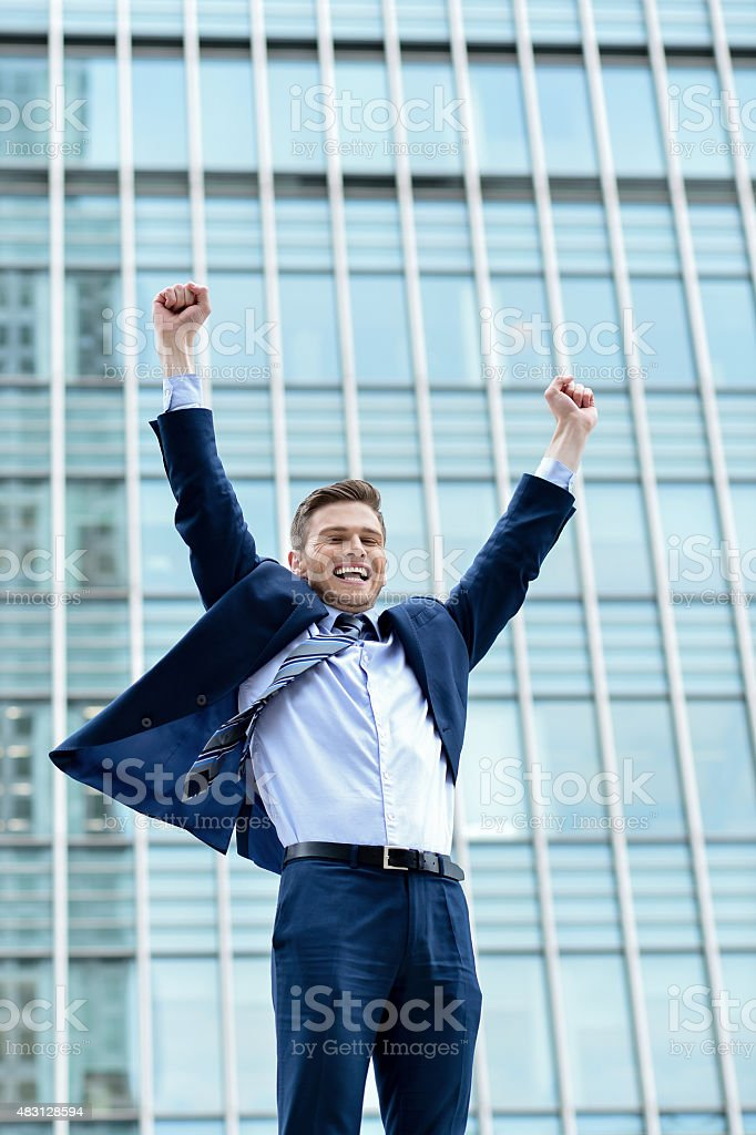 Yes, i am achieved my goals ! stock photo