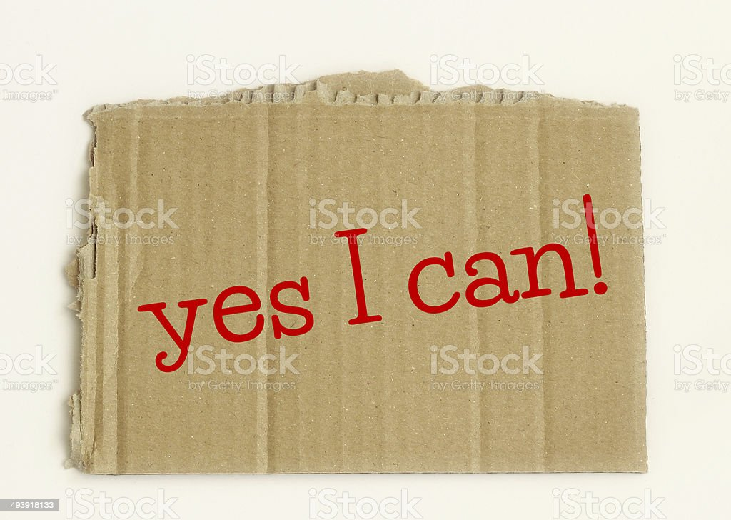 yes I can royalty-free stock photo