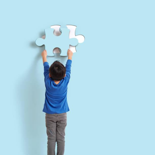 yes, it's me! - puzzle foto e immagini stock