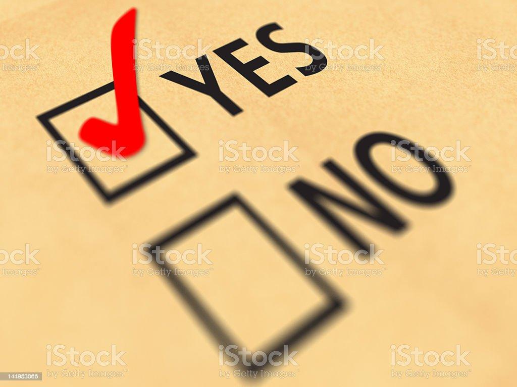 Yes No tickbox royalty-free stock photo