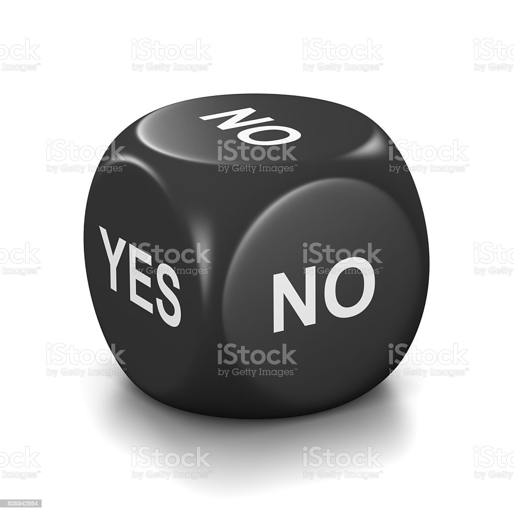 Yes Or No Black Dice Stock Photo More Pictures Of Black Color Istock