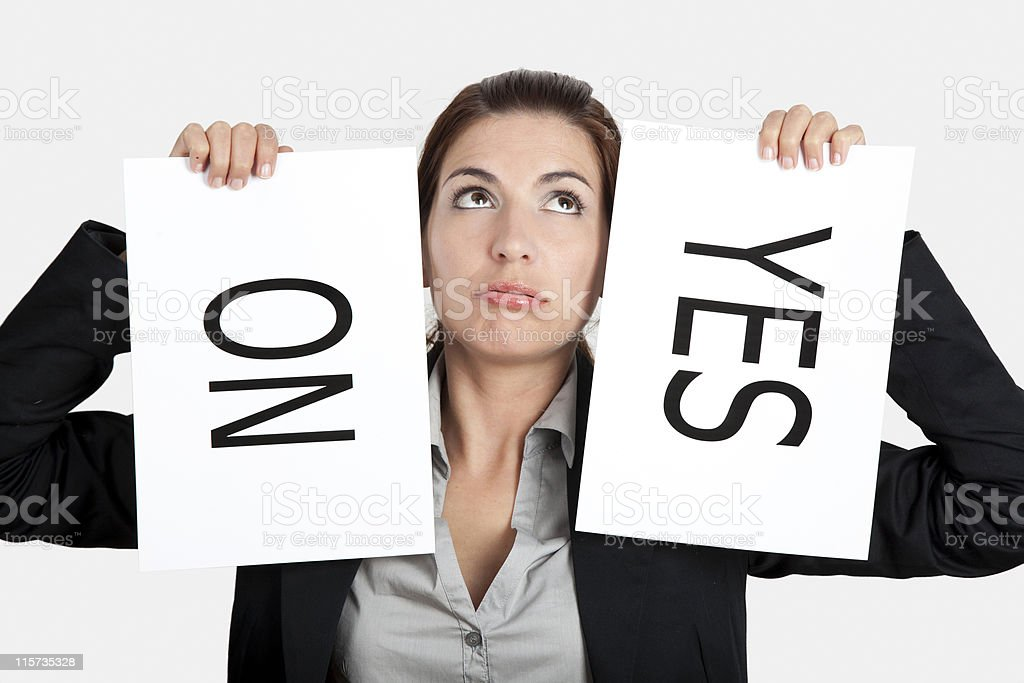 Yes or No choice royalty-free stock photo