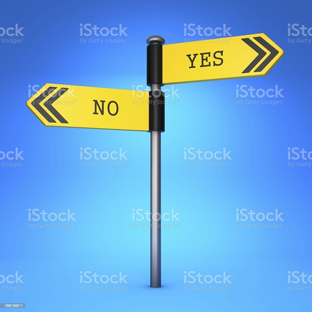 Yes or No. Concept of Choice. royalty-free stock photo