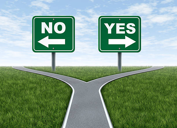 Yes or no decision stock photo