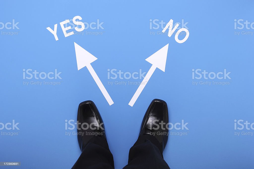 Yes or No royalty-free stock photo
