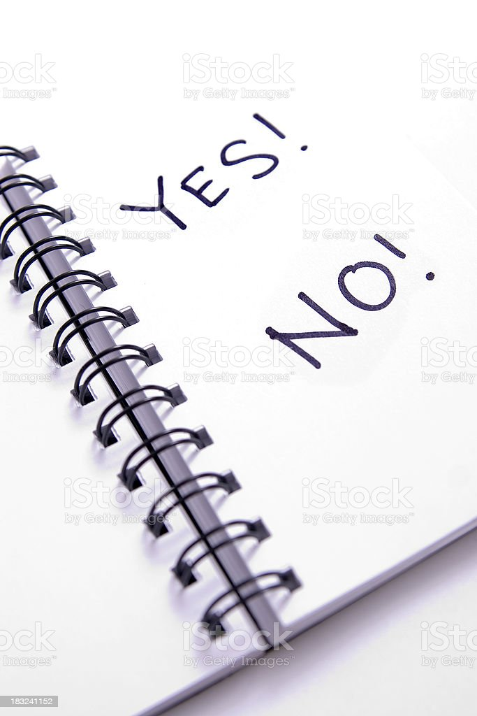 Yes or No? royalty-free stock photo