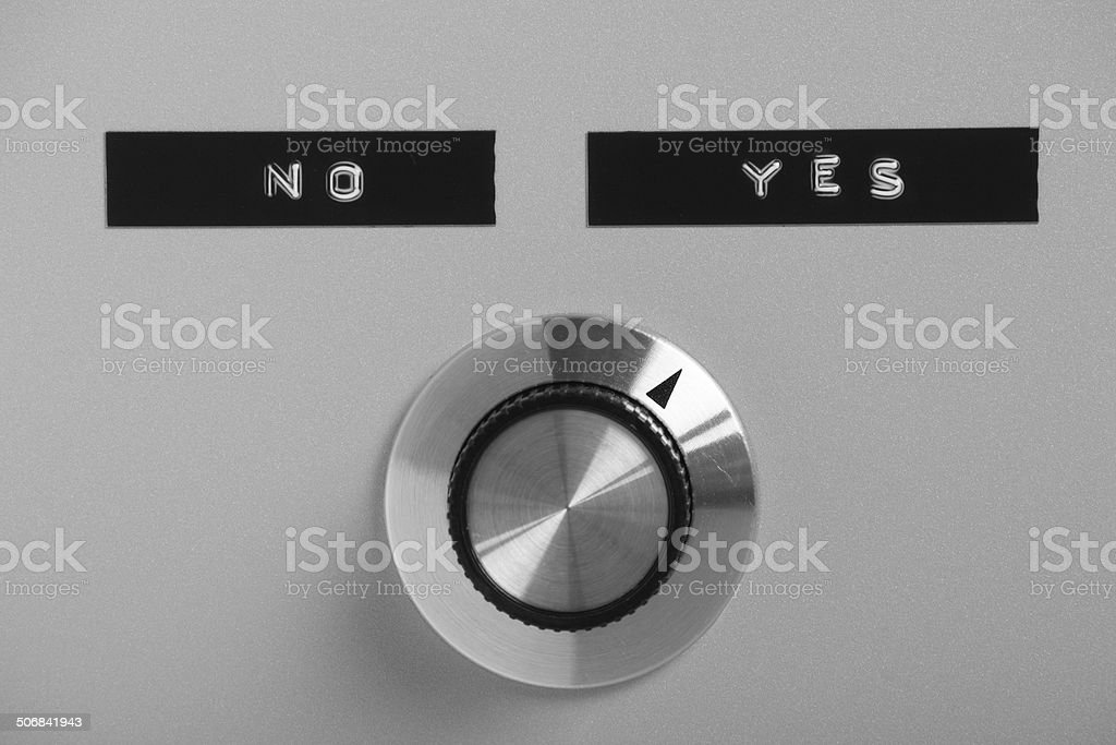 Yes or No Switch stock photo