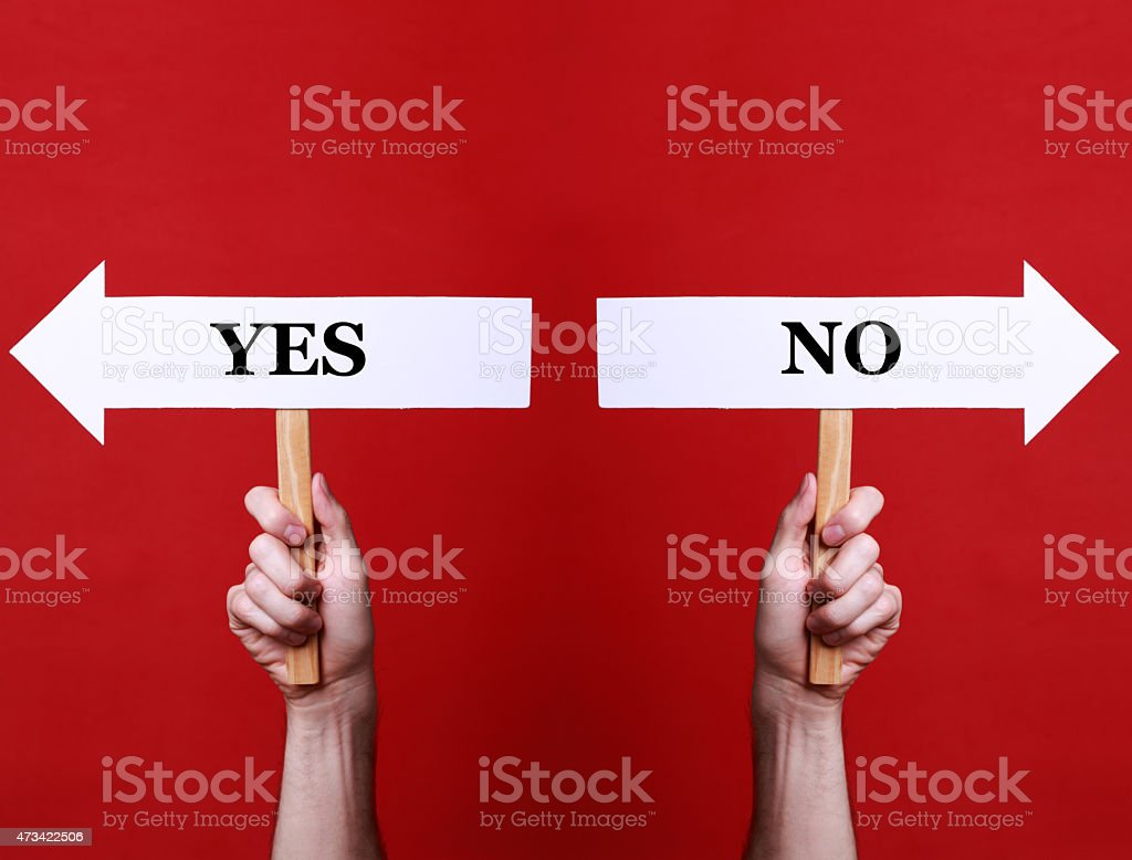 Yes or Not stock photo