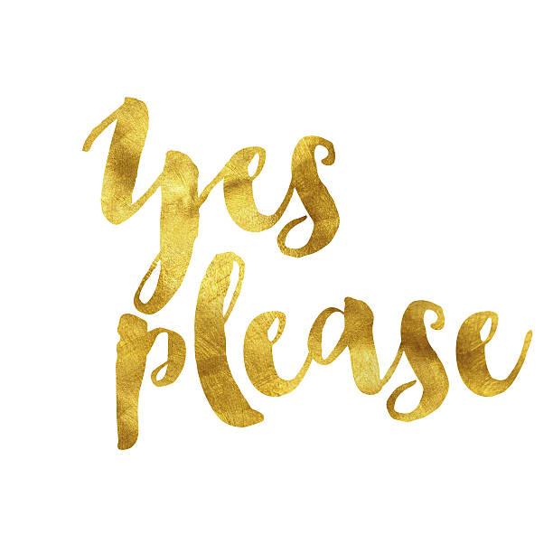 ja, bitte die mit goldfolie überzogenen nachricht - danke zitate stock-fotos und bilder