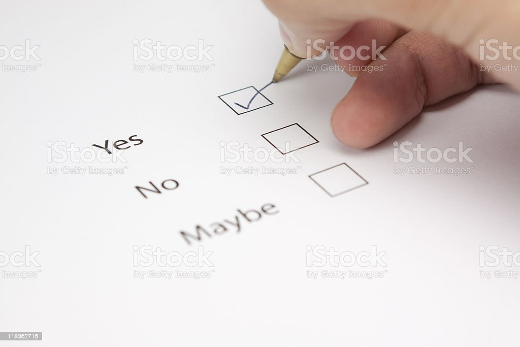 Yes Questionnaire royalty-free stock photo