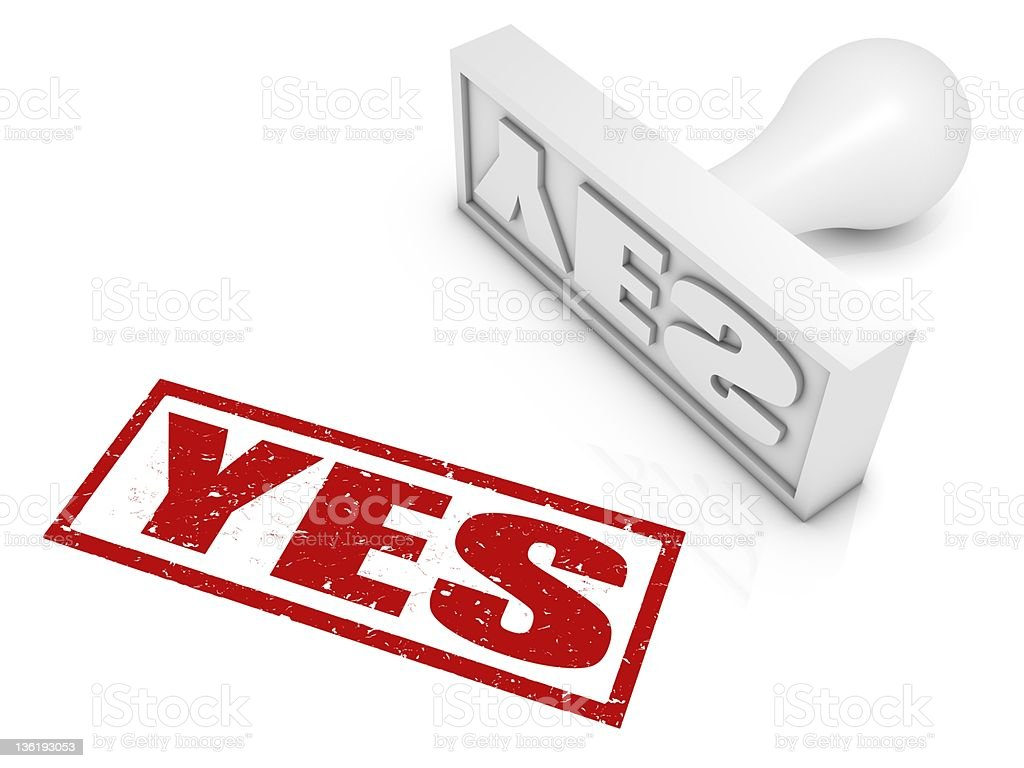 Yes Rubber Stamp royalty-free stock photo