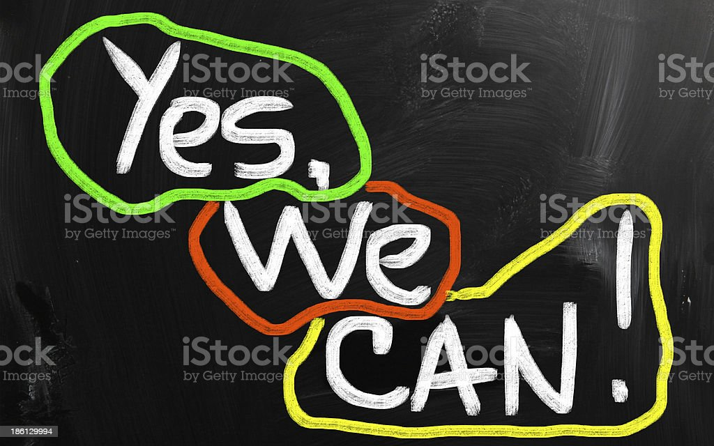 Yes, we can! royalty-free stock photo