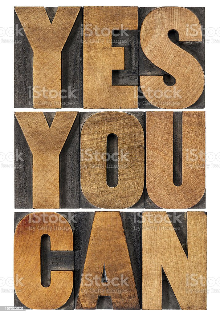 yes you can motivation phrase royalty-free stock photo