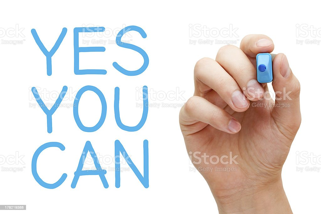 Yes You Can royalty-free stock photo