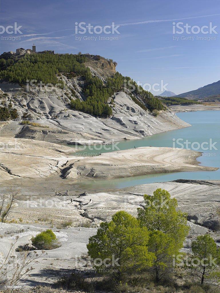 Yesa Reservoir stock photo
