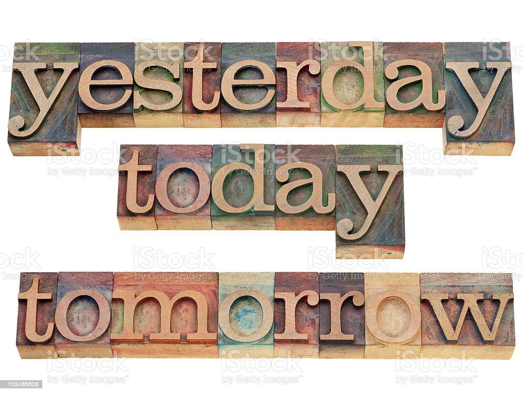yesterday, today, tomorrow royalty-free stock photo