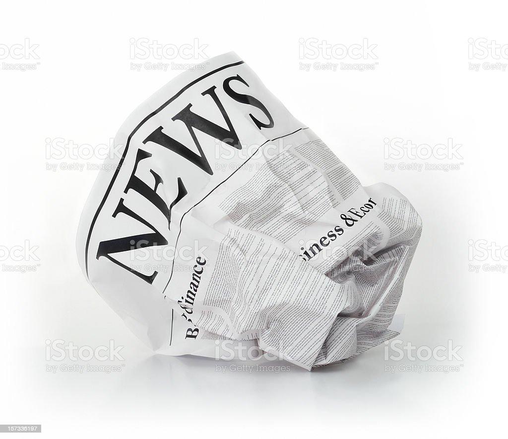 Yesterdays Newspaper royalty-free stock photo