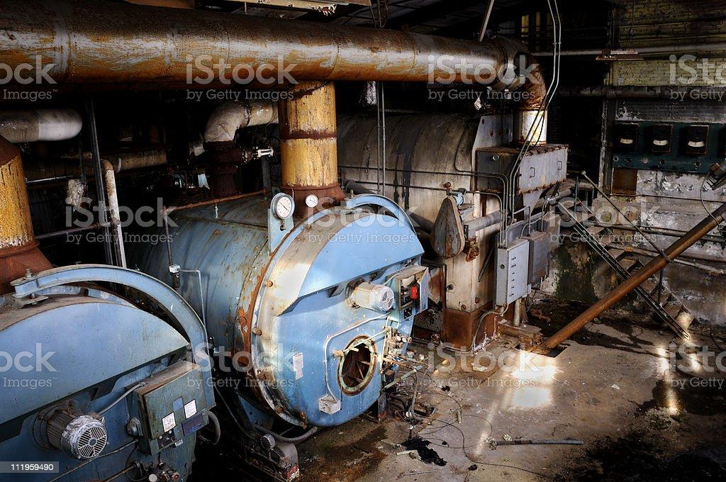 Yesterday's Power Abandoned stock photo