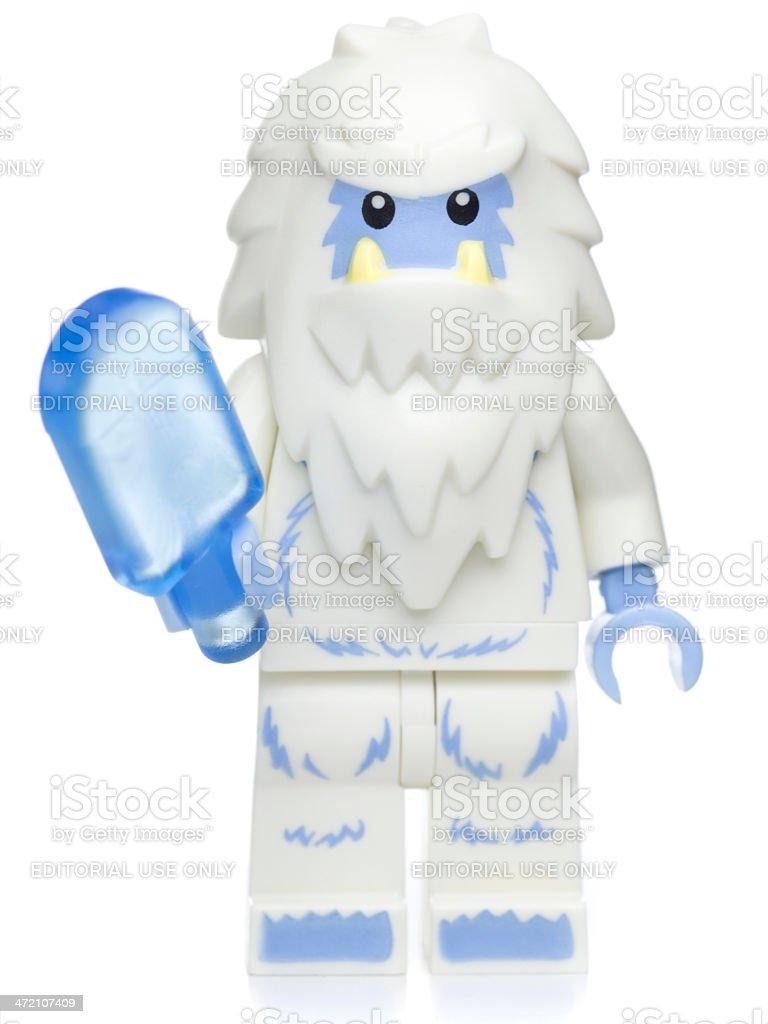 Yeti Lego Minifigure royalty-free stock photo