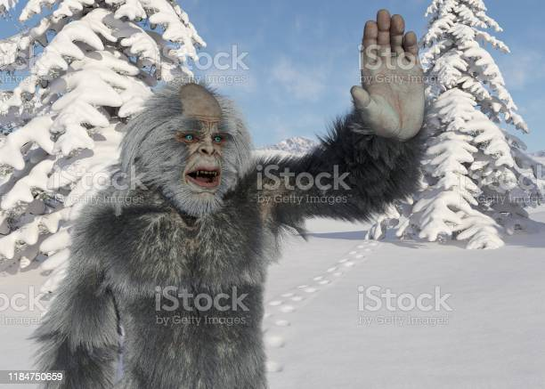 Yeti winter in the forest 3d illustration picture id1184750659?b=1&k=6&m=1184750659&s=612x612&h=249knpndfep e8amub2xsbl29 r9xwsrmwlnib73jew=
