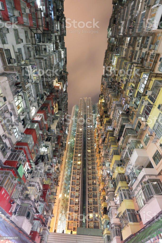 Yick Fat Yick Cheong Fok Cheong Building King Road Quarry Bay Hong Kong urban housing apartment stock photo