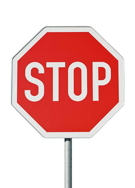 señal de rendimiento. aislado sobre blanco - stop sign fotografías e imágenes de stock