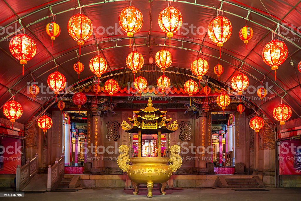 Yimin Temple for Hakka culture stock photo