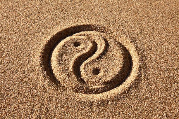 yin and yang - yin yang symbol stock pictures, royalty-free photos & images